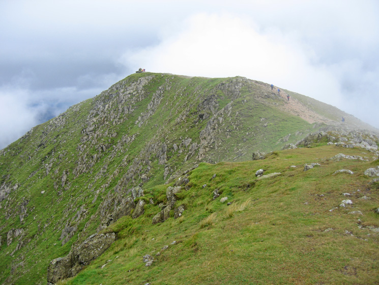 The final section of ridge to Coniston Old Man's summit