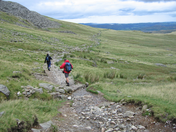 The path from Goat's Water out to the Walna Scar Road
