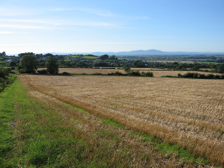 As I gain height the view opens up, looking back to Bothel and across the Solway Firth to Criffel