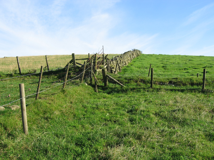 The only fence that need to be climbed on the route (the rest had gates or stiles)