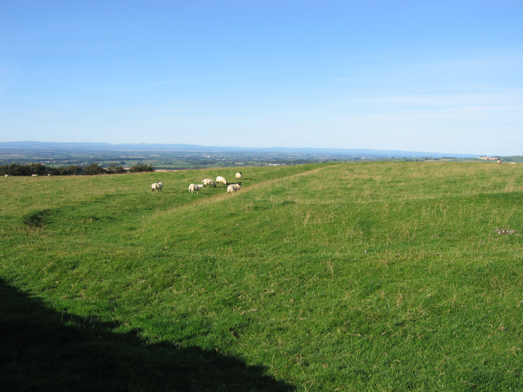 Part of the ancient earthwork at St John's Hill's summit, marked as The Battery on the OS map
