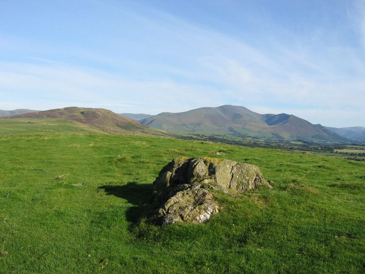 Binsey and the Skiddaw fells from Caermote Hill's summit