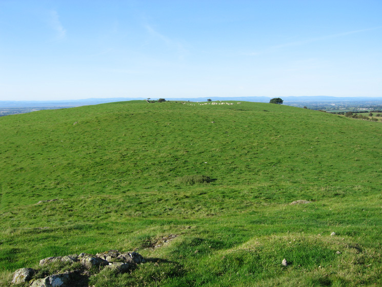 Looking back to St John's Hill from Caermote Hill summit