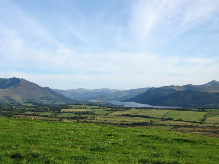 Looking south to Bassenthwaite Lake from Caermote Hill's summit
