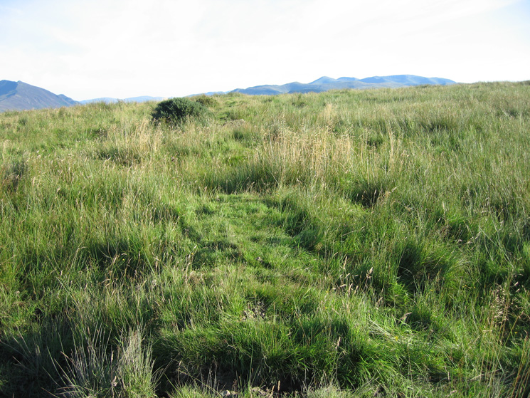 The remains of Caermote Roman Fort are now hard to see!
