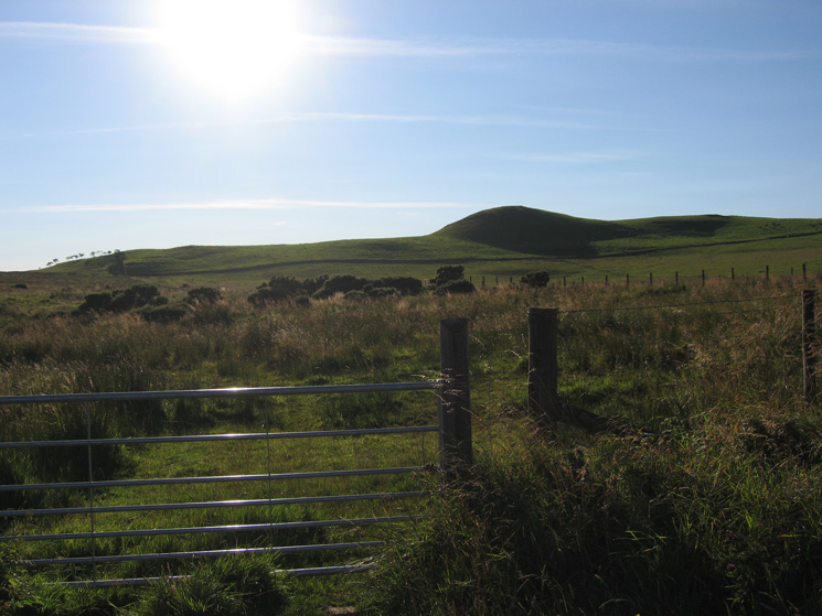 Caermote Hill from the minor road to the east