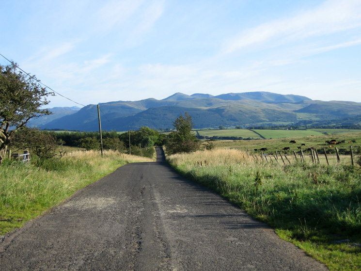 The view south down the road