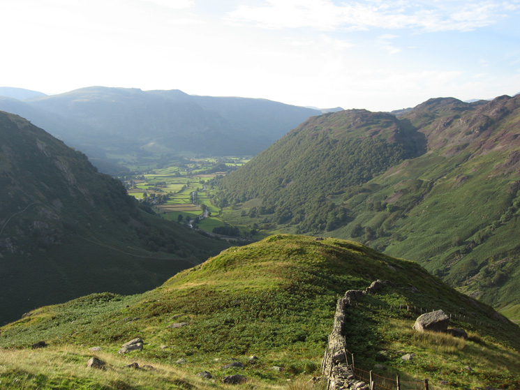 Looking over Bleak How into Borrowdale