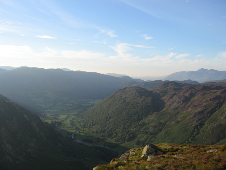 The view to the north west from Eagle Crag's summit