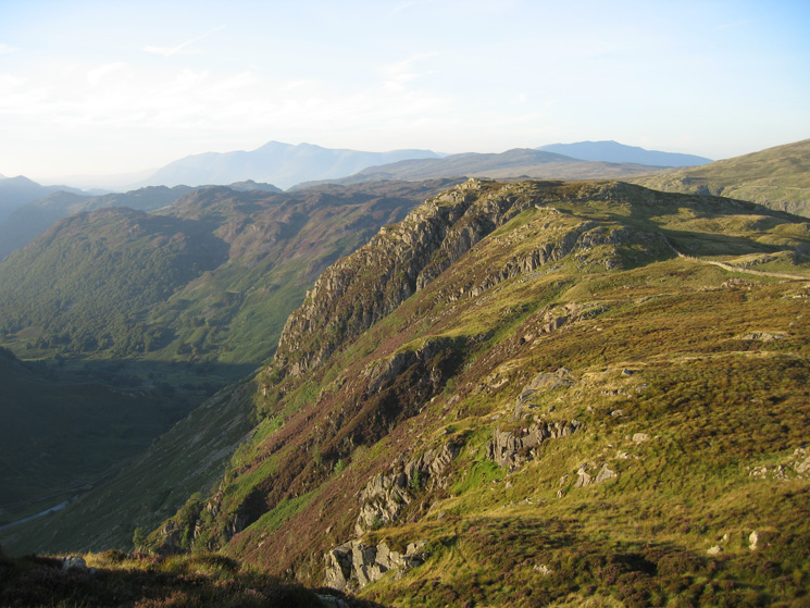 Looking back to Eagle Crag as we head along the ridge to Sergeant's Crag