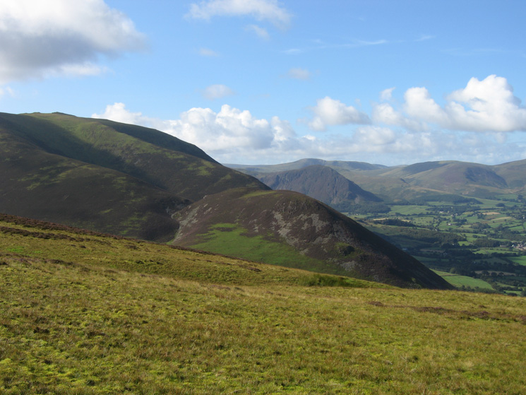 The nearer of the two ridges will be our descent route off Whiteside down to Dodd