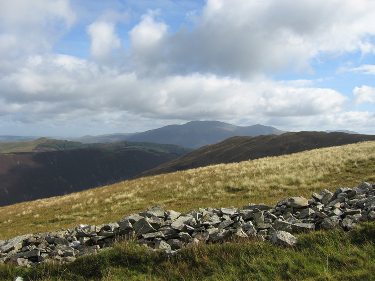 Looking north east to the Skiddaw fells