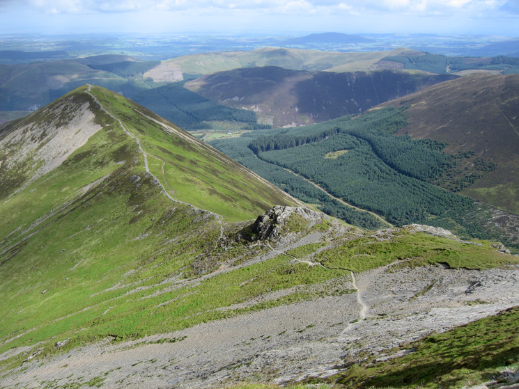 Looking back to Ladyside Pike from Hopegill Head's summit