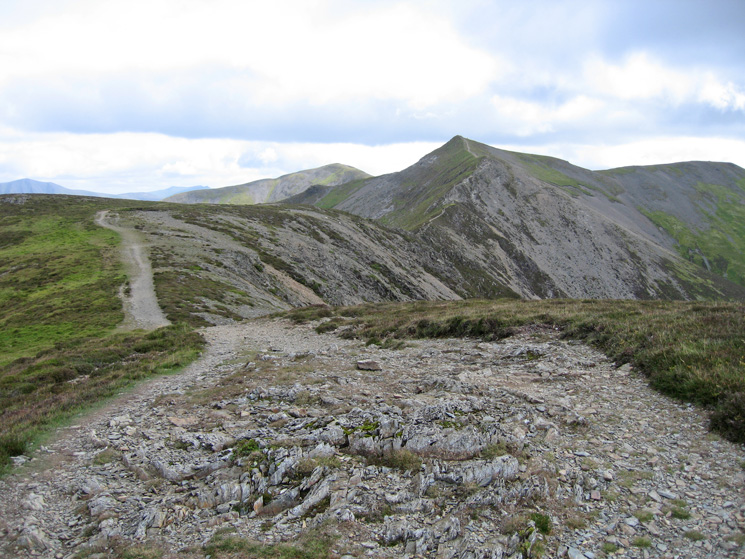 Looking back to Hopegill Head as we head for Whiteside