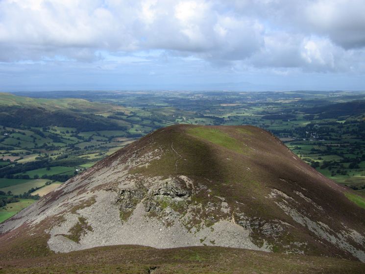 Dodd, there is a steep drop and reascent to reach its summit