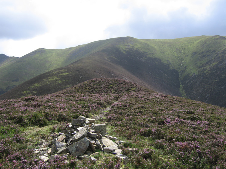 Looking back up to the Hopegill Head to Whiteside ridge from Dodd