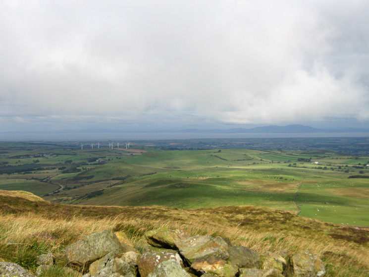The Solway Firth from west of Binsey's summit