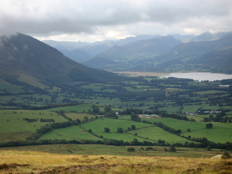 Zooming in on the head of Bassenthwaite Lake