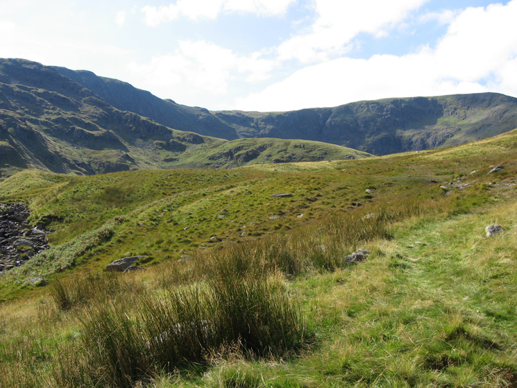 Looking ahead towards High Street, the near ridge rising to the left will be our ascent route onto Mardale Ill Bell
