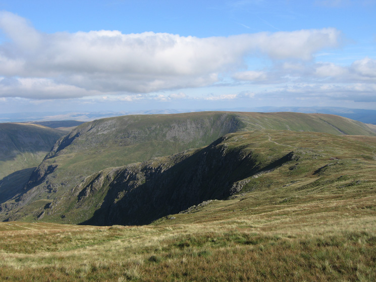 Looking back to Mardale Ill Bell with Harter Fell behind from our route up High Street