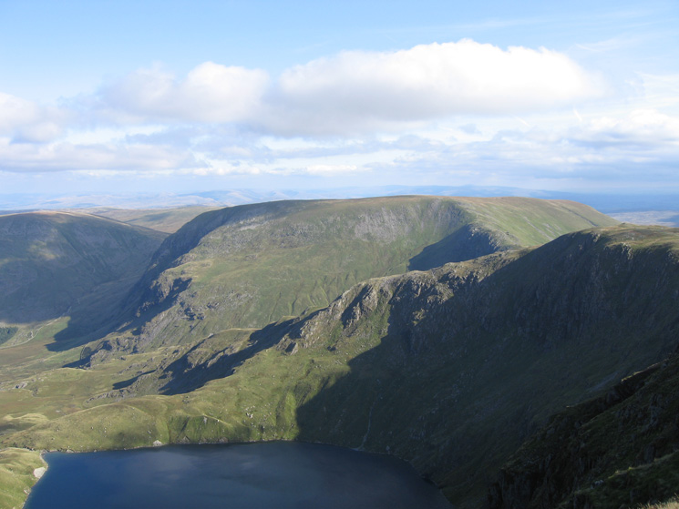 Blea Water and Mardale Ill Bell's north ridge with Harter Fell behind