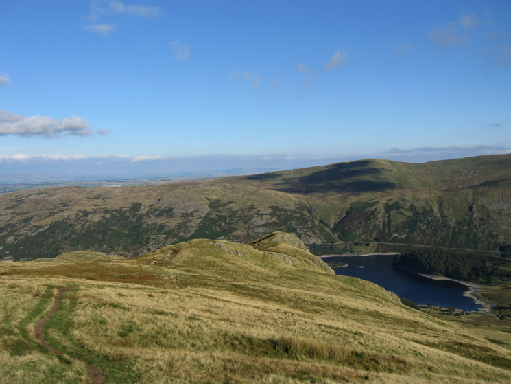 The ridge to Kidsty Howes with Selside Pike on the far side of Haweswater