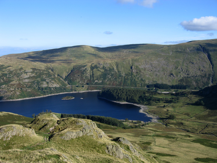Haweswater and The Rigg (wooded) from Kidsty Howes