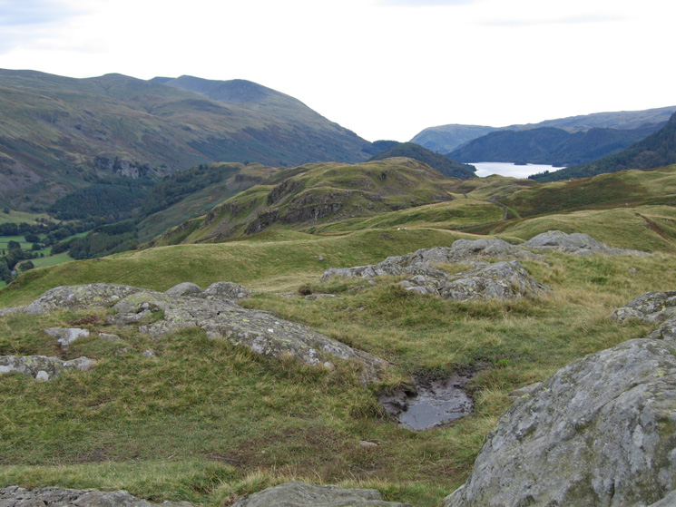 The view south back along our route from High Rigg's summit