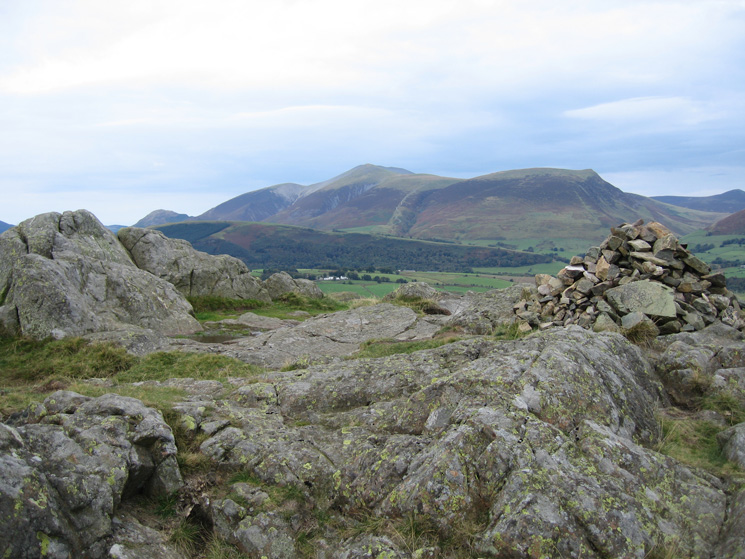 The Skiddaw fells from High Rigg's summit