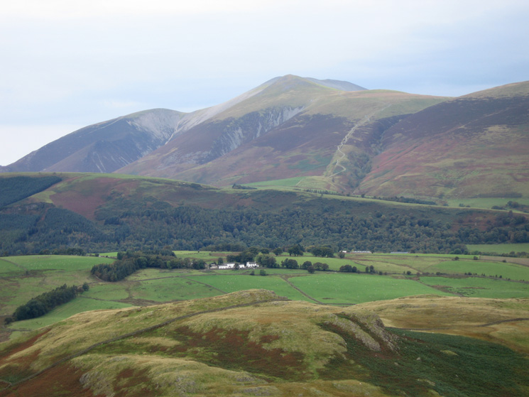 Zooming in on Skiddaw Little Man and Jenkin Hill