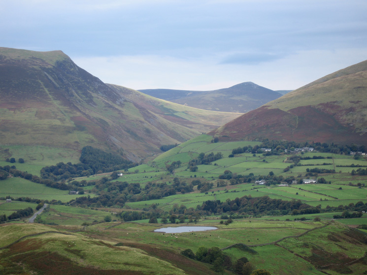Looking over Tewet Tarn and through the gap between Skiddaw and Blencathra to Great Calva