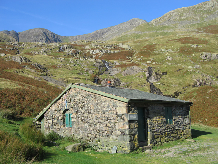 Ruthwaite Lodge. Nethermost Pike is just to the right of chimney (skyline)