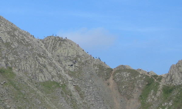 A few people on Striding Edge today. I wonder, has it been on the TV recently?
