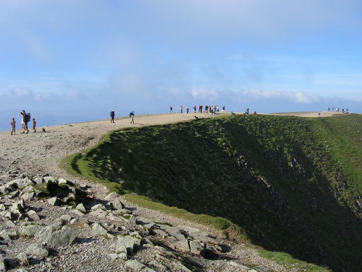 Helvellyn summit, a popular place today