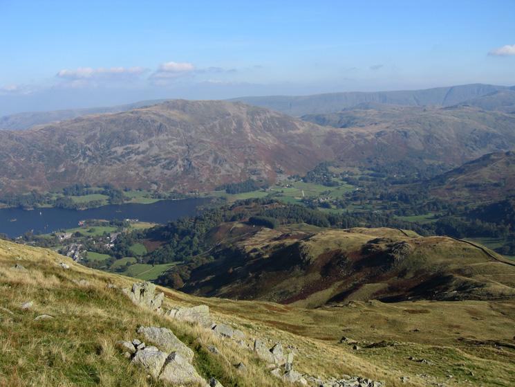 The ridge down to Keldas from Birkhouse Moor