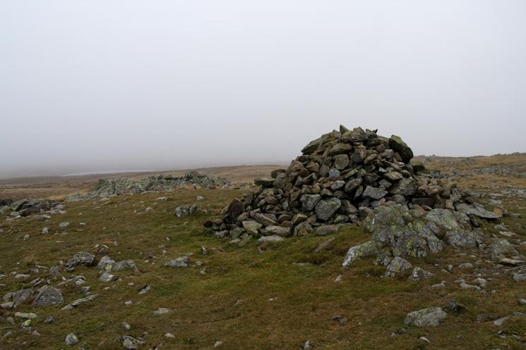 Caudale Moor's summit cairn