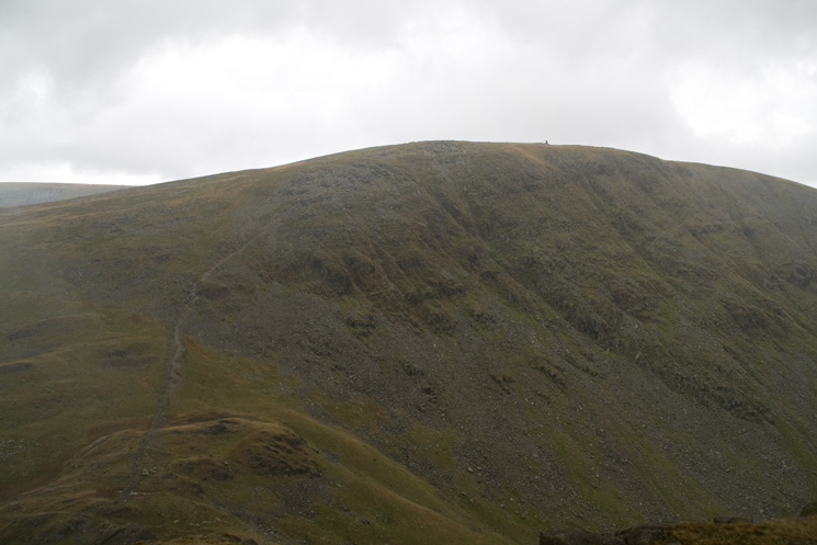 Looking over Threshthwaite Mouth to Thornthwaite Crag with the beacon on the skyline