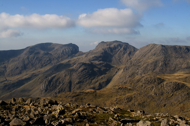 Scafell and Scafell Pike from Bowfell