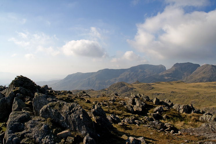 The Scafells from Bowfell's north top