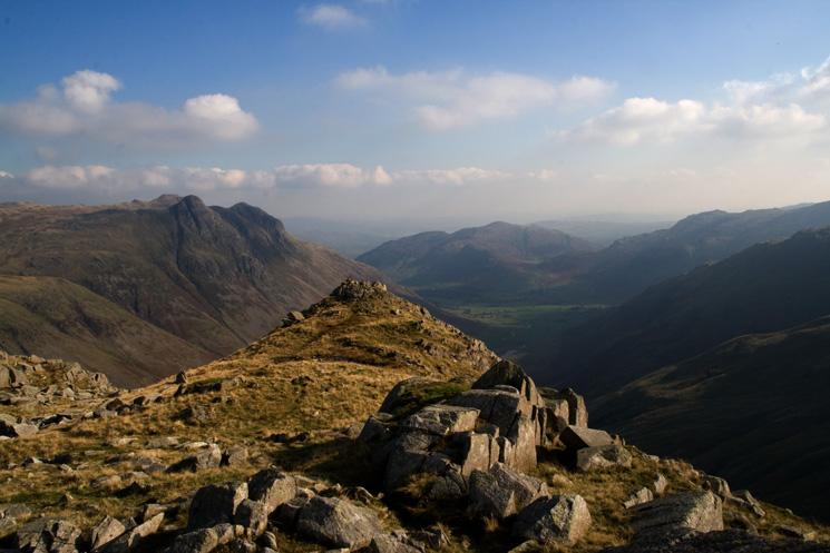 Rossett Pike's summit ridge