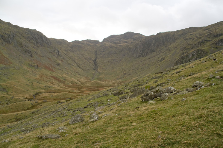 Combe Gill looking towards Comb Head