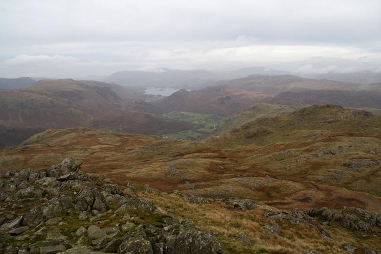 Northwards towards Derwent Water from Glaramara's summit