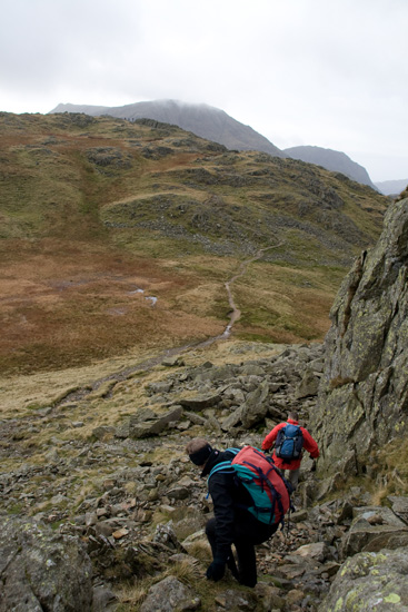 Heading along the ridge path
