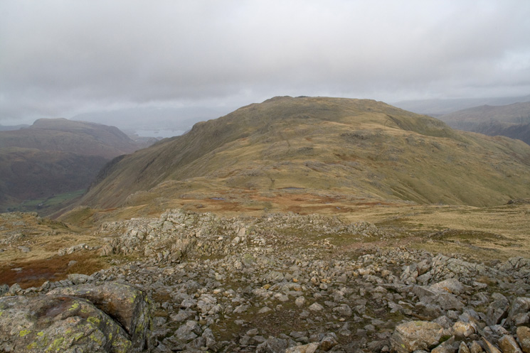 Looking back to Glaramara from our ascent of Allen Crags