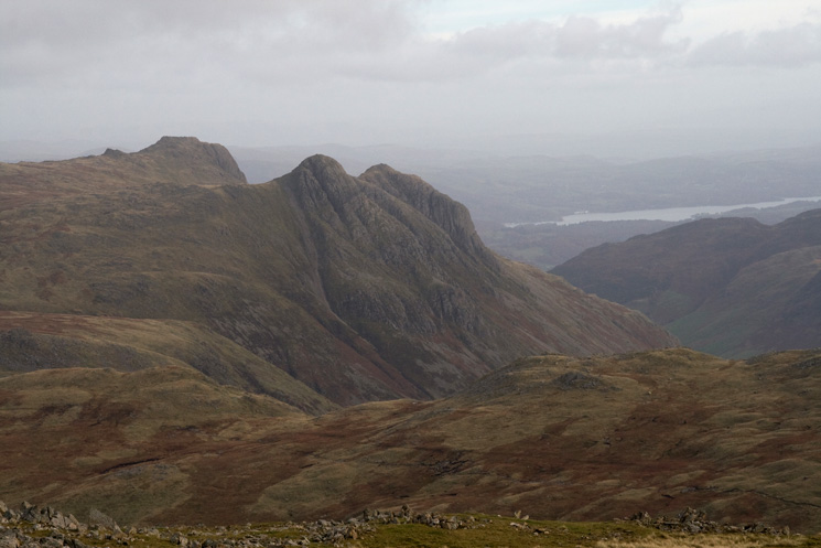 The Langdale Pikes from Allen Crags summit