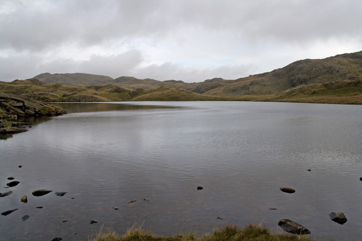 Sprinkling Tarn. We had walked the skyline ridge, Glaramara on the far left to Allen Crags out of shot on the right