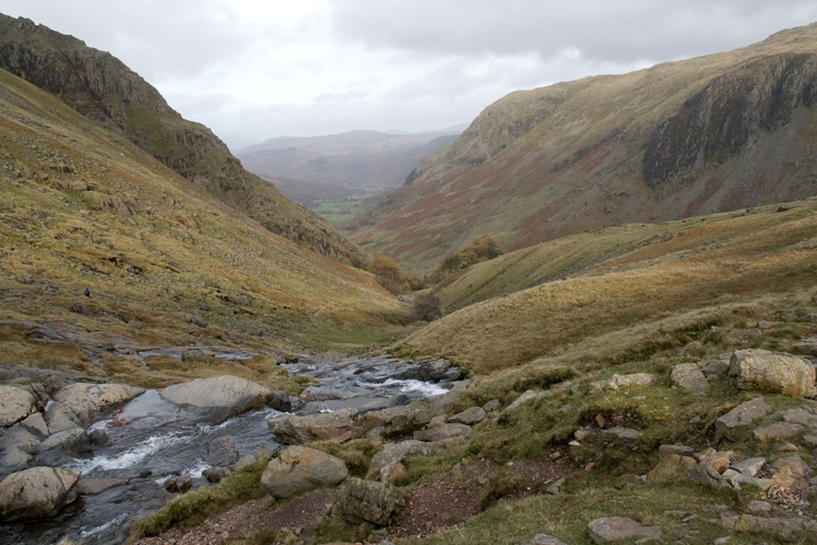Looking down into Borrowdale
