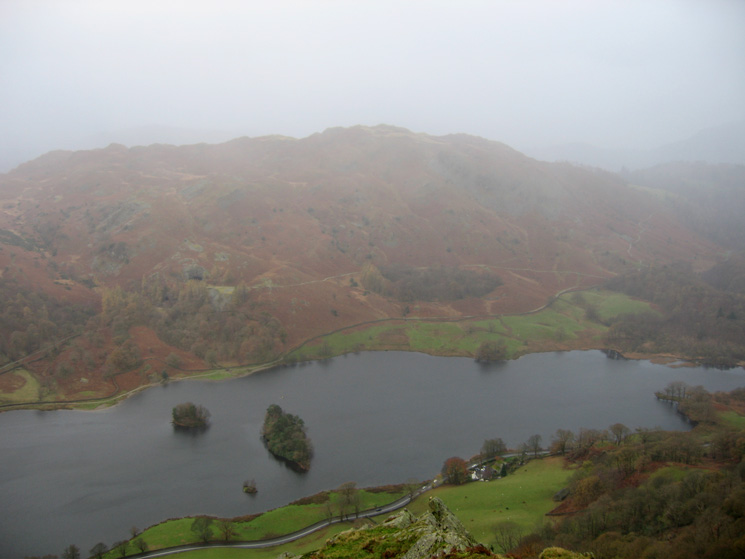 Looking across Rydal Water to Loughrigg Fell from Nab Scar