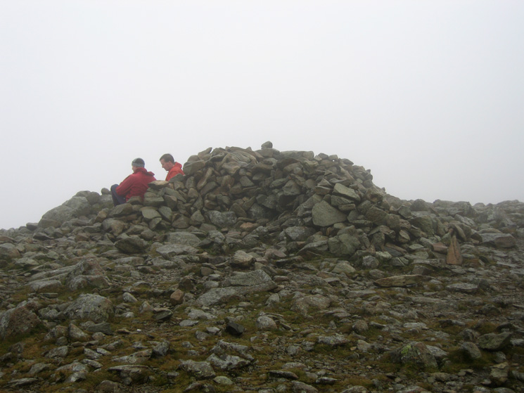 Fairfield's summit cairn, no view today