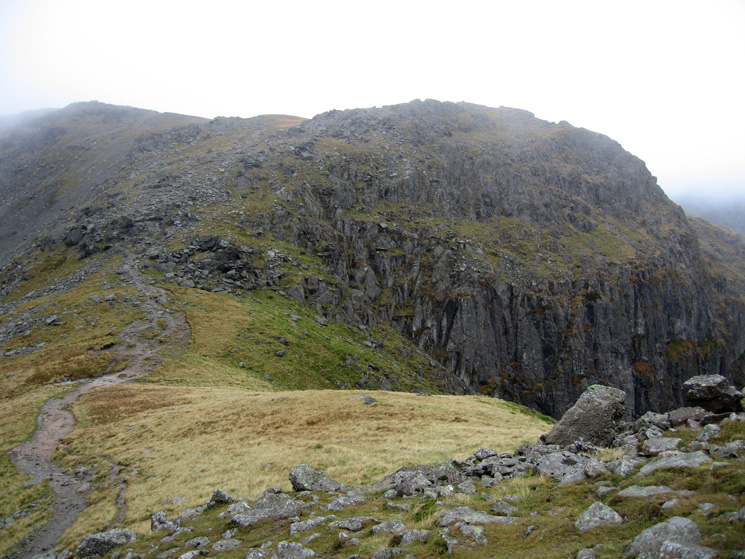 Looking back to Link Hause and Scrubby Crag from our ascent of Hart Crag